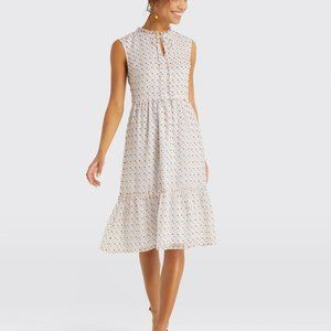 Draper James Swiss Dot Tiered Dress Size 14